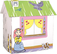 BINO Kartonový domeček pro princeznu