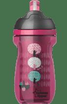 TOMMEE TIPPEE Netečúci termohrnček so slamkou Explora 260ml 12m + - ružový