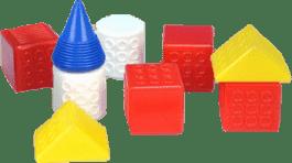 CHEMOPLAST Kocky kubus Fantázia - plast 9ks