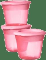 TOMMEE TIPPEE Kelímky s viečkom na jedlo 3 ks Basic-ružová