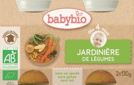 BABYBIO príkrm zeleninová zmes 2x130g