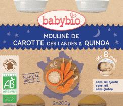 BABYBIO večerné menu mrkvové Moulin a quinoa 2x200g