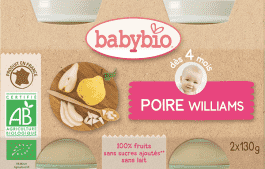 BABYBIO príkrm hruška Williams 2x130g