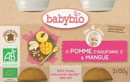 BABYBIO príkrm jablko mango 2x130g