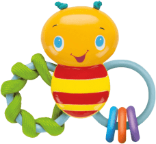 BRIGHT STARTS Hryzátko Chew & Rattle Bee (3m+)