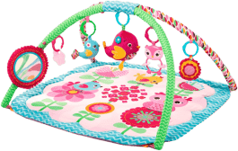 BRIGHT STARTS Deka podporujúca vývoj s hrazdou a hračkami Bloomin' Birdies Activity Gym