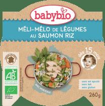 BABYBIO menu zelenina s lososom a ryžou 260g