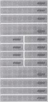 REER Naklejka odblaskowa zestaw 16 szt.