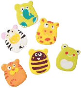 BABY ONO Hračky do kúpeľa - zvieratká s prísavkami pre chlapca 6ks