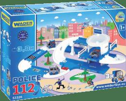 WADER Kid Cars 3D Policie plast 3,8 m v krabici 1+ rok