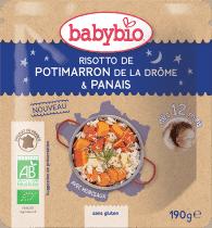 BABYBIO večerné menu tekvicové rizoto s paštrnákom 190g