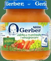 GERBER Jabłka z marchewką i winogronami (125g)