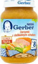 GERBER Jarzynki z delikatnym schabem (190g)