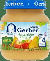 GERBER Mus z jabłek i gruszek (125g)