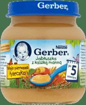 GERBER Jabłuszka z kaszką manną (125g)