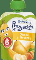 Expirace 9.6.2016: BOBOVITA Mus owocowy w tubce owoce z gruszką 80 ml