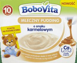 BOBOVITA MLECZNY PUDDING O SMAKU KARMELOWYM 4x100G
