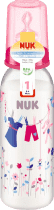 NUK Butelka PP 240ml, różowa, silikonowy smoczek, wielkość 1, M