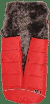 B.O.Z.Z Fusak do kočárku z ovčí vlny - dlouhý vlas, Red / Grey
