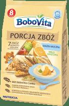 BOBOVITA Kaszka mleczna 7 zbóż wielozbożowo-jaglana pełnoziarnista wieloowocowa (210g)
