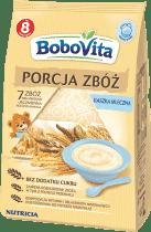 BOBOVITA Kaszka Porcja zbóż mleczna-7 zbóż, wielozbożowo-jęczmienna pełnoziarnista (210g)