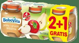 3x BOBOVITA Jabłka i gruszki (125g)
