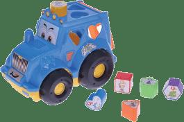 MIKRO TRADING Traktor vkládací - modrý