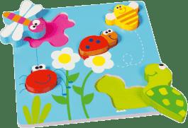 SCRATCH Vkladacie puzzle Zahrádka