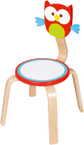 SCRATCH Drewniane dziecięce krzesełko Sówka