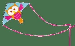 SCRATCH Duży latawiec Sówka