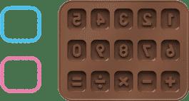 TESCOMA Formičky na čokoládu DELÍCIA KIDS, počítanie