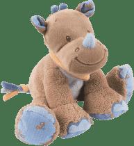 NATTOU Zabawka grzechoczący pluszak Nosorożec Louis 18 cm