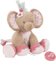 NATTOU Hračka hudební sloník Rose 18 cm