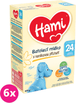 6x HAMI 4 Vanilka (600g) – dojčenské mlieko