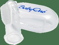 BABY ONO Kefka zubná prstová s púzdrom