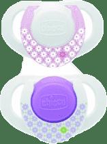 CHICCO Cumlík silikón 0m + 2ks ružové