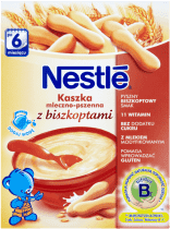 NESTLÉ Kaszka mleczno-pszenna z biszkoptami (250g)