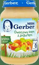 GERBER Owocowy krem z jogurtem (190g)