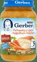 GERBER Potrawka z ryżem i łagodnym indykiem (190g)