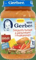 GERBER Soczysty kurczak z jarzynkami i makaronem (190g)
