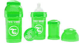 TWISTSHAKE antikoliková fľaša 180ml Zelená