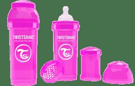 TWISTSHAKE antikoliková fľaša 260ml Ružová