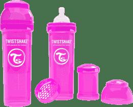 TWISTSHAKE Antikoliková láhev 330ml Růžová