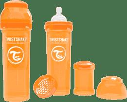 TWISTSHAKE Antykolkowa butelka 330ml Pomarańczowa