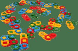 WADER Kocky stavebnice Domino 64 ks