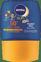 NIVEA SUN Kieszonkowe dziecięce mleczko do opalania OF50+ 50 ml