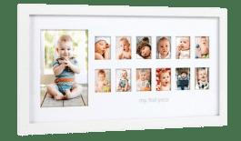 PEARHEAD fotoramka Pierwszy Rok Życia, biała