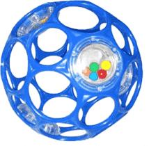 BRIGHT STARTS Zabawka/grzechotka OBALL RATTLE 10 cm, 0m+ (niebieska)