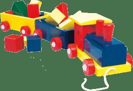 BINO Vlak veľký, farebný - 2 vagóny