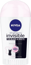 NIVEA Tuhý Antiperspirant Black a White Clear 40ml